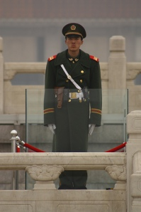 Guard at Mao Zedong Memorial Hall